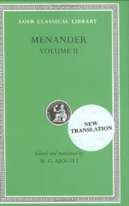 Menander / edited with an English translation by W. G. Arnott. 2