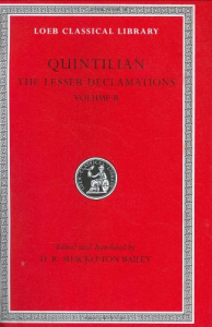 The lesser declamations / [Quintilian] ; edited and translated by D. R. Shackleton Bailey. 2