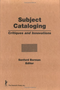 Subject cataloging