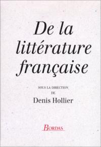De la litterature francaise