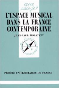 L'espace musical dans la France contemporaine