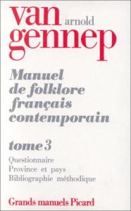Vol. 2: Questionnaires, provinces et pays, bibliographie methodique