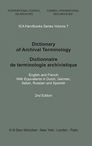 Dictionary of archival terminology