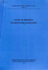 Studi in memoria di Giovanni Cassandro