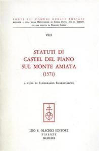 Statuti di Castel del Piano sul Monte Amiata (1571)