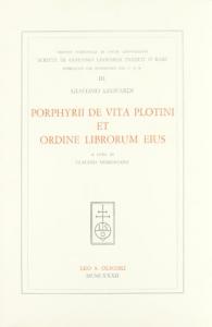 3: Porphyrii de vita plotini et ordine librorum eius