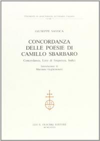 Concordanza delle poesie di Camillo Sbarbaro