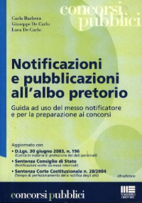 Notificazioni e pubblicazioni all'albo pretorio