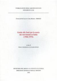Guida alle fonti per la storia dei movimenti in Italia (1966-1978)