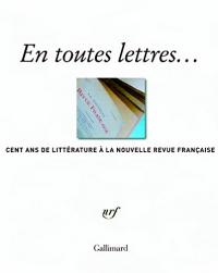 En toutes lettres...