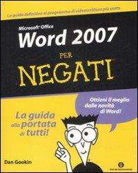 Microsoft Office Word 2007 per negati