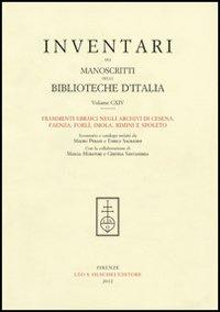 114: Frammenti ebraici negli archivi di Cesena, Faenza, Forlì, Imola, Rimini e Spoleto