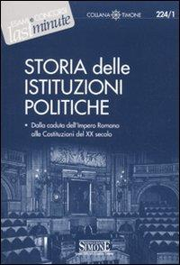 Storia delle istituzioni politiche