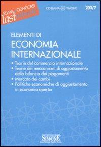 Elementi di economia internbazionale