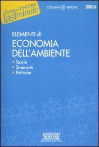 Elementi di economia dell'ambiente