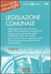 Legislazione comunale