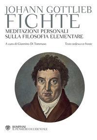 Meditazioni personali sulla filosofia elementare