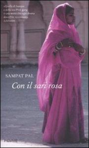 Con il sari rosa