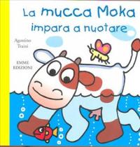 La mucca Moka impara a nuotare
