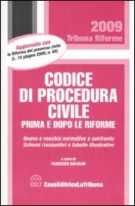 Codice di procedura civile, prima e dopo le riforme
