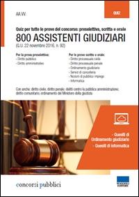 800 assistenti giudiziari