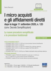 I micro acquisti e gli affidamenti diretti