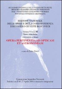 Vol. 5.3: Opera pertinentia ad opticam et astronomiam
