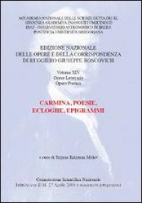 Vol. 14: Carmina, poesie, ecloghe, epigrammi