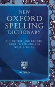 New Oxford spelling dictionary