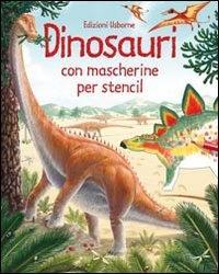 Dinosauri con mascherine per stencil