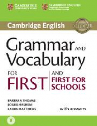 Grammar and vocabulary for First and First for schools