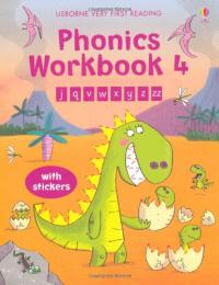 Phonics workbook / written by Mairi Mackinnon ; illustrated by Fred Blunt. 4: J, q, v, w, x, y, z, zz