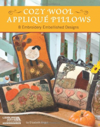 Cozy wool, appliqué pillows