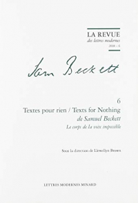 Textes pour rien/Texts for nothing de Samuel Beckett