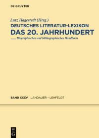 Deutsches Literatur-Lexikon - das 20. Jahrhundert.