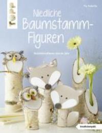 Niedliche Baumstamm-Figuren