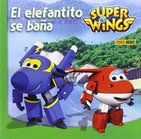 Super Wings. El elefantito se bana