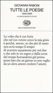 Tutte le poesie, 1949-2004