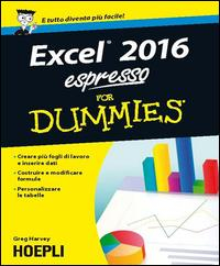 Excel 2016 espresso for Dummies