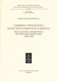 L'impresa tipografica di Battista Farfengo a Brescia
