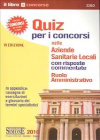 Quiz per i concorsi nelle Aziende Sanitarie Locali