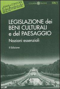 Legislazione dei beni culturali e del paesaggio