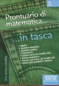 Prontuario di matematica... in tasca
