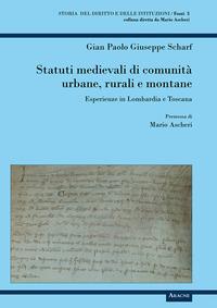 Statuti medievali di comunità urbane, rurali e montane