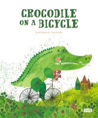 Crocodile on a bicycle