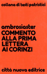 Commento alla prima lettera ai Corinzi