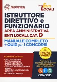 Istruttore direttivo e funzionario negli enti locali area amministrativa, cat. D