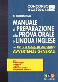 Manuale di preparazione alla prova orale in lingua inglese per tutte le classi di concorso