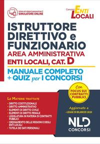 Istruttore direttivo e funzionario area amministrativa enti locali, cat. D