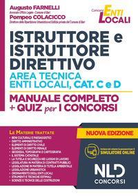 Istruttore e istruttore direttivo area tecnica enti locali, cat. C e D